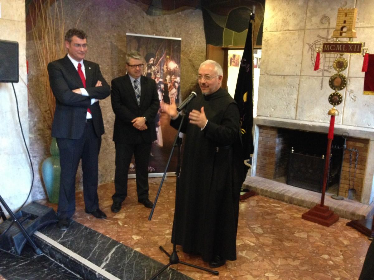 Parlament del Prior i portaveu del Monestir de Montserrat, el Pare Ignasi Fossas